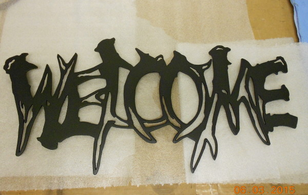 Welcome Deer Antlers Sign